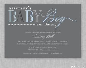 Baby Shower Invitaion - Baby Boy