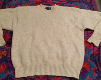 Oatmeal-Colored Pendleton Wool Pullover