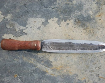 Hand Forged File Boot Knife with Walnut Handle