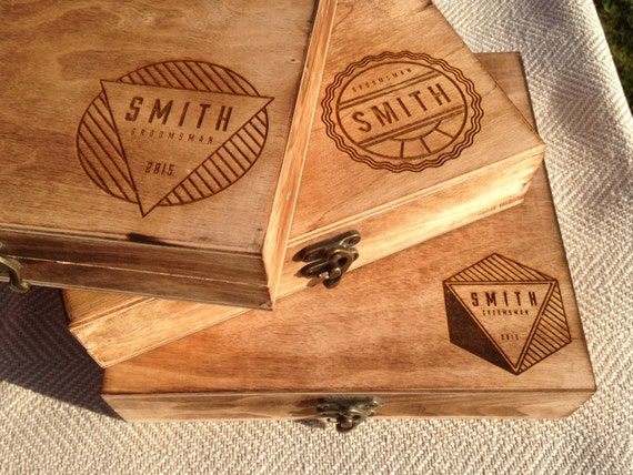 Groomsmen Gift Box - Personalized Cigar Box – Engraved