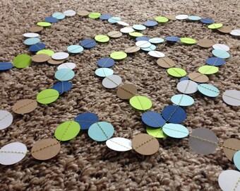 Baby Boy Circle Garland || It's a Boy || Baby Shower || Blue and Green || Confetti Garland || Nursery Garland || Nursery Decor