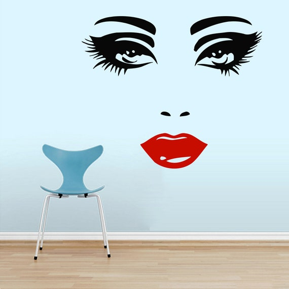 Makeup wall decal vinyl sticker decals home by - Stickers salon design ...