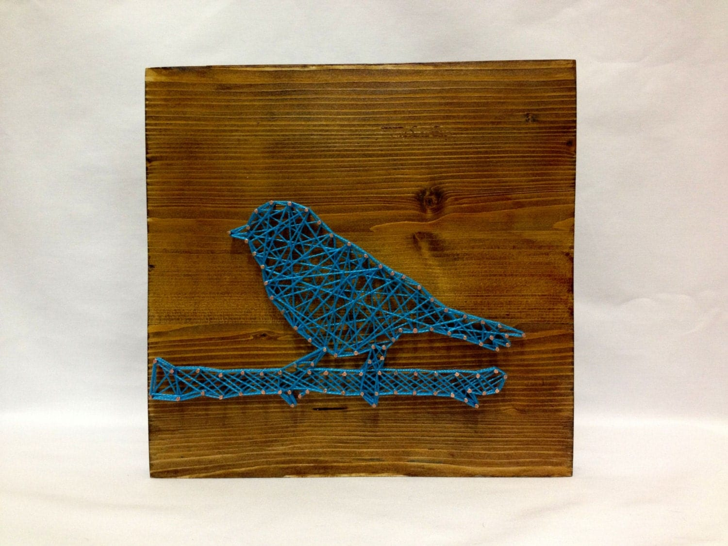 string art blue bird sign wall art. Black Bedroom Furniture Sets. Home Design Ideas