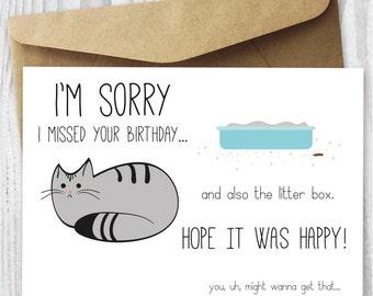 late birthday card  etsy, Birthday card