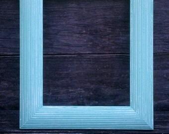 Wide 8x10 Vintage Frame in Aqua Mint- Shabby Chic Rustic Wedding Sign Home Decor, Nursery. Gallery Wall, Vintage Frame,