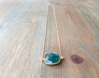 Square Emerald Necklace