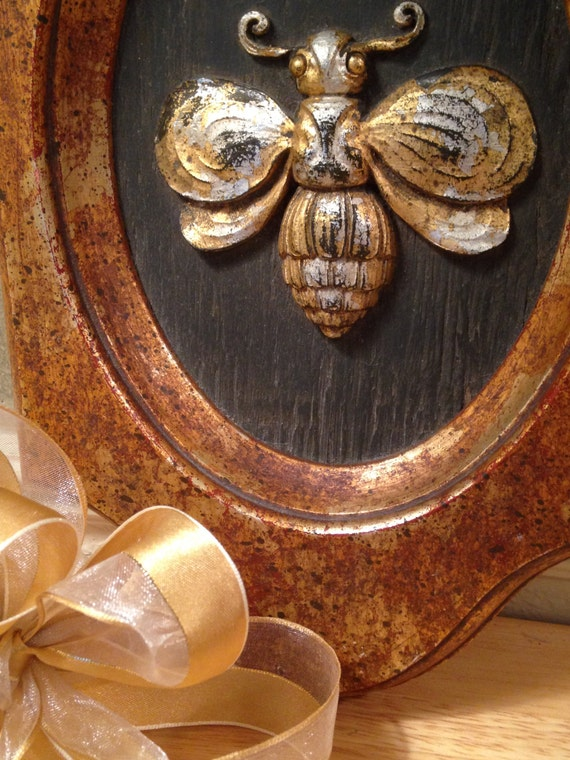Antique bumble bee vintage bee wall hanging home decor country for Honey bee decorations for your home
