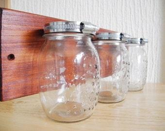 Medium Glass Jars on wood