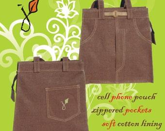 Hand-made Ladies Jean Purse Handbag