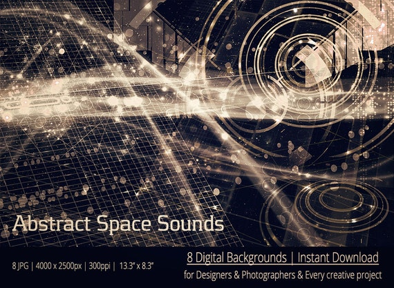 Abstract Space Sounds Digital Backgrounds by ...