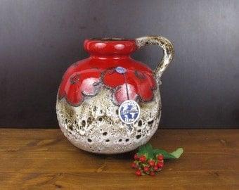 Große Vase von Scheurich / 484 - 21 / Large West Germany vase by Scheurich / Fat Lava