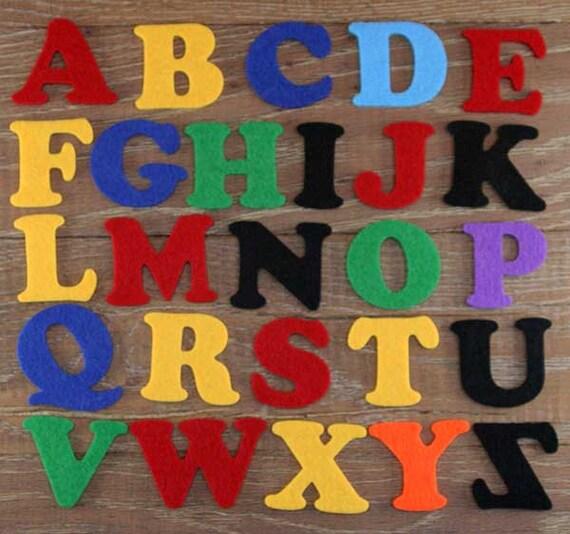 Cooper Black Font Alphabet Set 3mm Felt Upper Case Letters