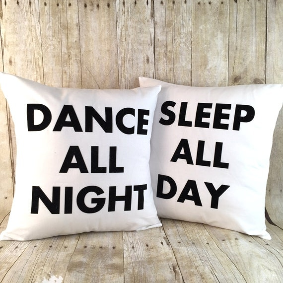 Free Shipping, flocked velvet Dance and Sleep pillow set with inserts