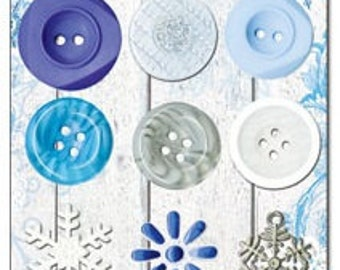 CLEARANCE! Snowflake -Buttons