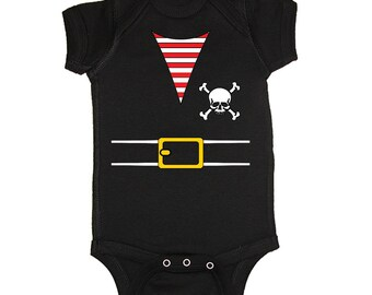 Mashed Tees! Pirate Costume Baby Bodysuit *Buy 2 Get 1 Free!* (PIR1)
