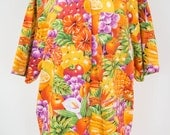 Vintage Fruit Print Shirt