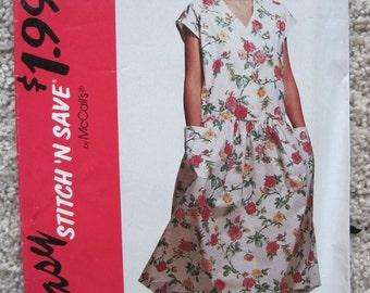 UNCUT Misses Dress - Size 10, 12, 14, 16 - McCalls Pattern 5913