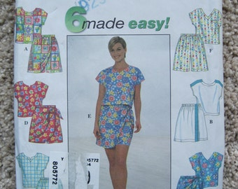 UNCUT Misses Top and Shorts - Size 6, 8, 10 - Simplicity Pattern 8039