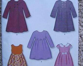 UNCUT Girls Dress - Size 3, 4, 5, 6, 7, 8 - Simplicity New Look Pattern 6846