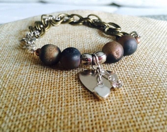 Druzy Charm Bracelet