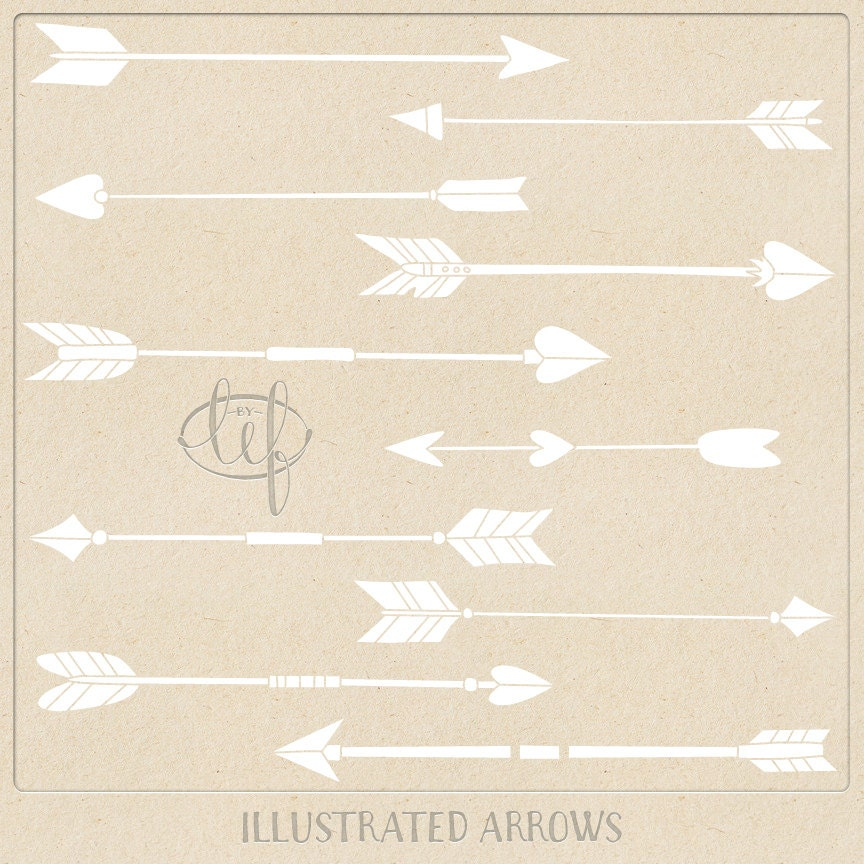 Aztec Arrow Clip Art Hand Drawn Arrows Clip Art Set