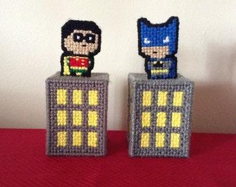 Pop-up Batman and Pop-up Robin