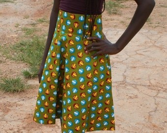 Fairtrade Wax Flare Skirt ****FREE SHIPPING****