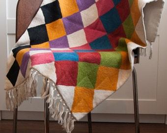 Stunning hand-crochet wool rug