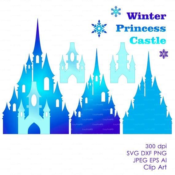 Princess winter snow frozen castle 300 dpi svg dxf jpg ai