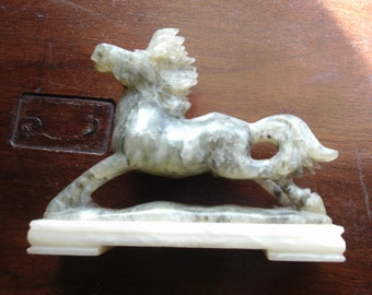 Free Shipping..Marble and Alabaster Horse