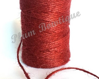 Deep Red 2mm Jute Craft Twine by James Lever