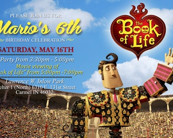 The Book Of Life Invite