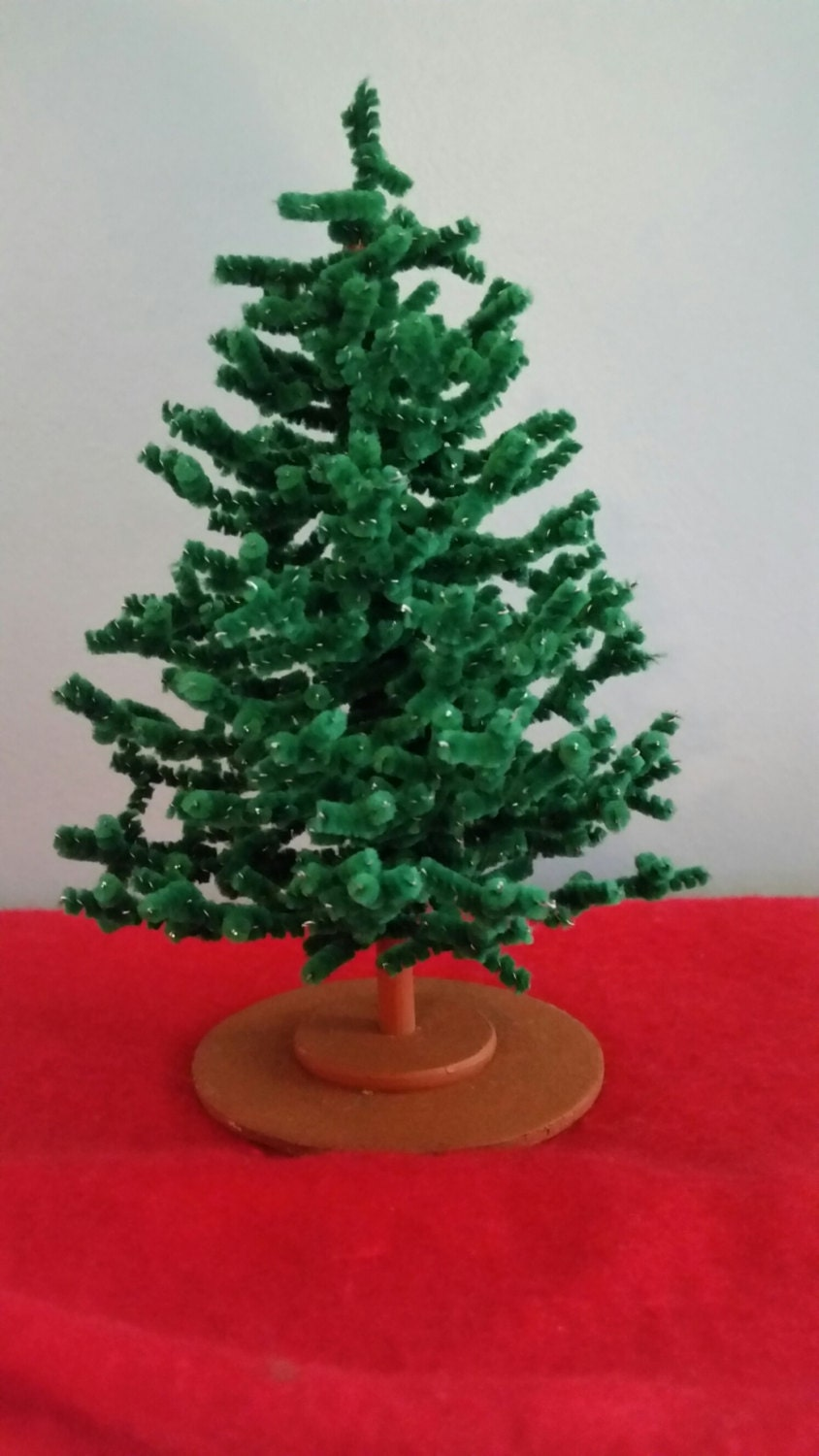 Miniature Chenille Christmas Tree Dollhouse Scale by ...