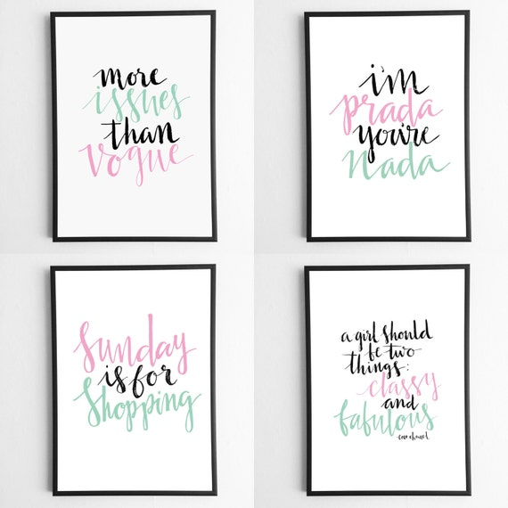 Modern calligraphy diy printable inspirational quotes the