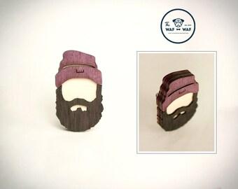 Beard brooch, hipster jewelry