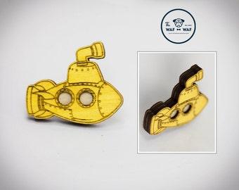 Yellow submarine brooch, Beatles brooch, Beatles jewelry, Beatles pendant, Beatles necklace