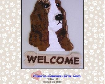 Bassett Hound Welcome Sign-Plastic Canvas Pattern-PDF Download