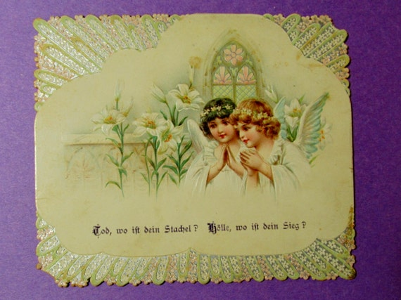 Antique Embossed Easter Card