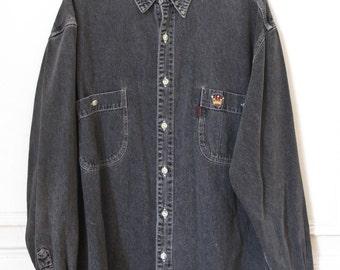 Vintage Long Sleeve Denim Shirt