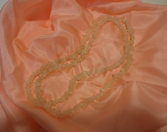 Rose Quartz Pink Gemstone Necklace