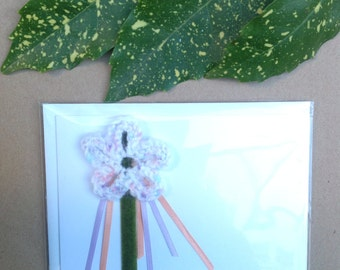 Hand crafted flower mixed media card.