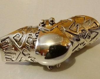 Anello in argento 925 snodo modello : armatura medioevale.
