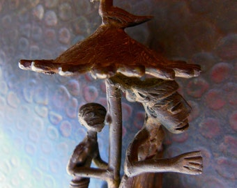 Ashanti Tribal African Bronze Lost Wax Ghana