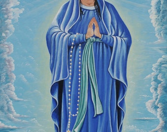 Painting of Mary from Ecuador
