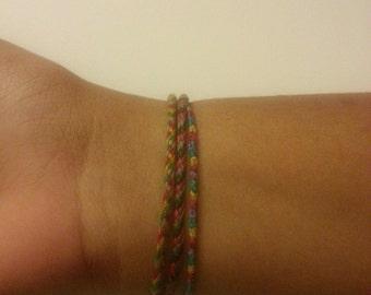 bracelet designed for the buyer. Can be beaded or string. Handmade to order.