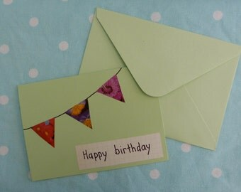 Handmade - happy birthday card