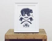 Wilderness Bear Mini Print