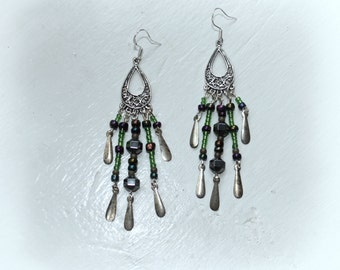 Lovely chandelier earrings sterling silver ear posts.
