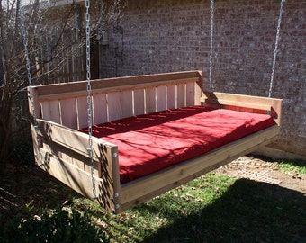 Brand New Cedar Daybed Swing in Country style, Twin Size Swinging Bed with Hanging Chain or Rope - Free Shipping