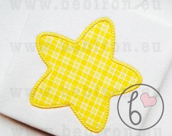 Star Applique Design Machine Embroidery Pattern Instant Download